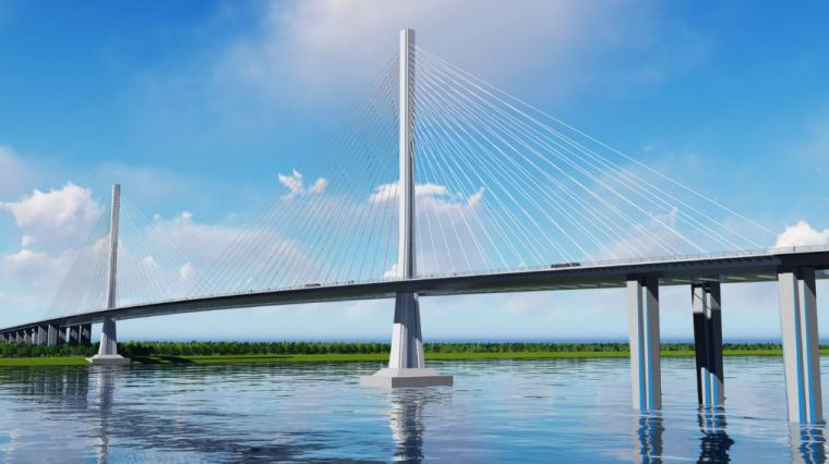 [BIM案例]独柱形钢塔双索面钢箱梁斜拉桥在设计阶段的BIM应用