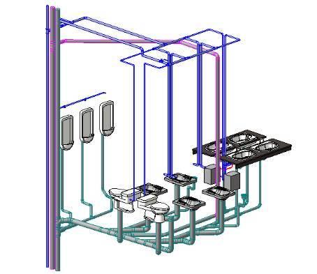 BIM机电模型建立全阶段详解之管道系统校验