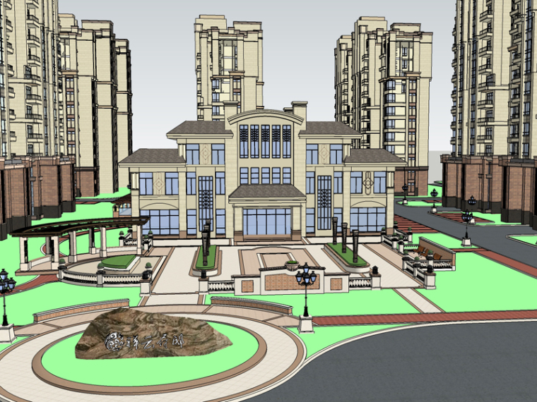 现代住宅SketchUp模型下载_2