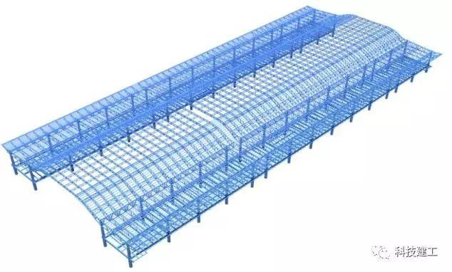 (案例分析)大跨度拱形钢结构施工技术研究