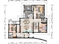 [郑州]托斯卡纳风格二层别墅样板房设计施工图+效果图