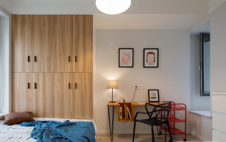 黑白灰色调现代风格样板房设计施工图(附效果图)_7