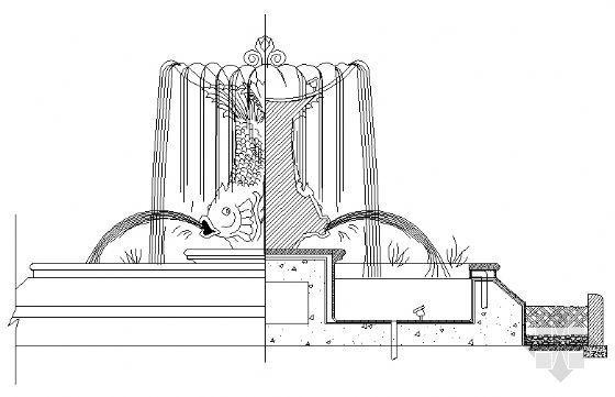 雕塑喷泉结构图
