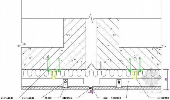 干挂石材墙面伸缩缝节点详图