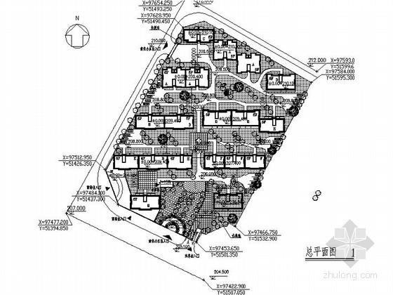 [重庆]某建筑节能示范小区规划方案图