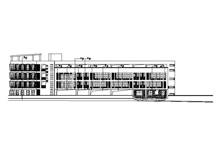 [广东]四层框架结构长条式18班幼儿园建筑施工图(16年最新)