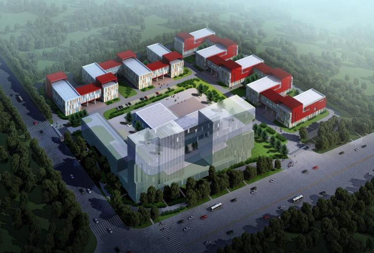 [江苏]三层现代感单元模块化厂区办公楼建筑设计方案文本