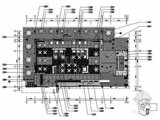 [三亚]旅游景区度假酒店现代全日餐厅装修施工图(含效果)