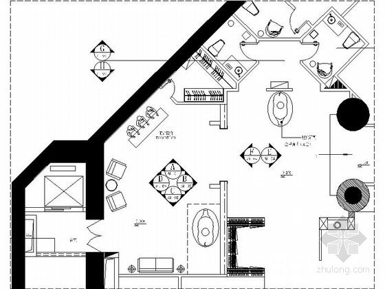 [广东]奢华高级会所室内装修设计施工图(含效果)