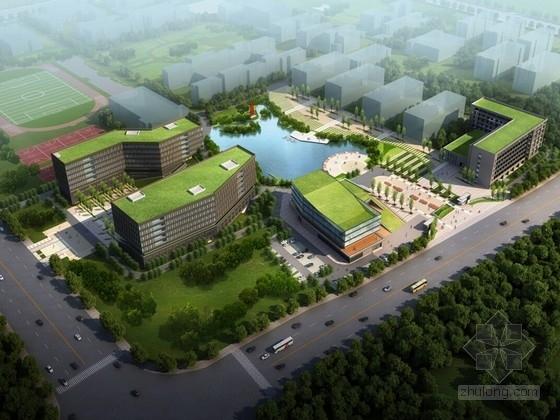 [浙江]台州现代风格高职院校规划设计方案文本(含CAD)
