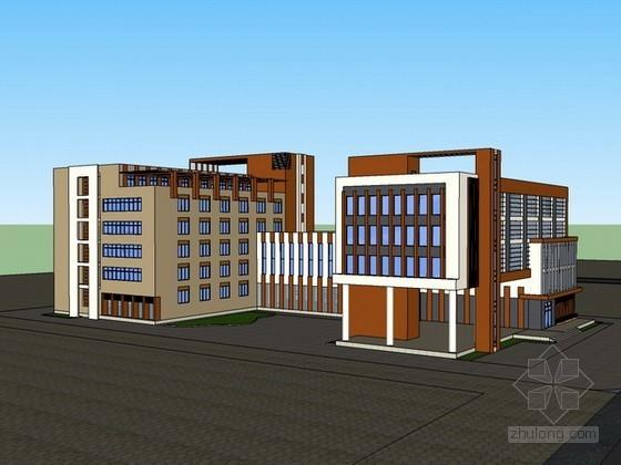 厂房区办公楼sketchup模型下载