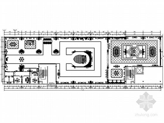 [河南]现代化高科技企业混搭风格灯饰展厅装修施工图(含效果)
