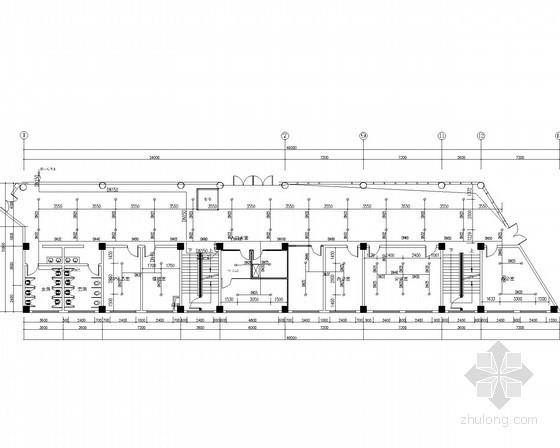 [重庆]多层办公楼给排水消防电气施工图(气体灭火系统 气溶胶灭火系统)