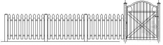 小院围墙栏杆详图