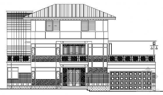 某三层欧式独立别墅建筑方案图