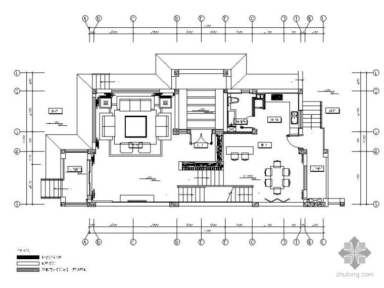 [武汉]某三层户型样板房室内装修图
