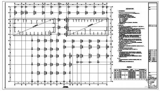 某6级人防地下车库结构图