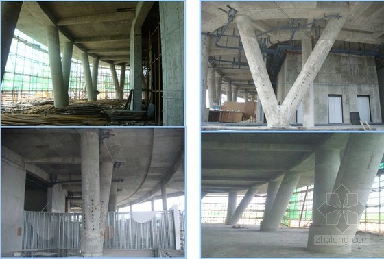 V型支撑设计资料下载-大直径木模板V型圆柱施工工法(内附工艺图)