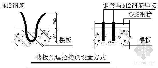 长春市某政府新建办公楼工程东、西连廊脚手架搭设技术交底记录
