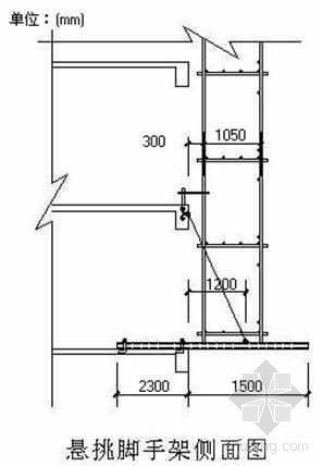 山西省某中学科技图书楼工程外脚手架施工方案(悬挑式单排单立杆脚手架)