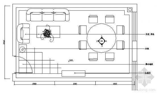 餐厅包房平面布置图7