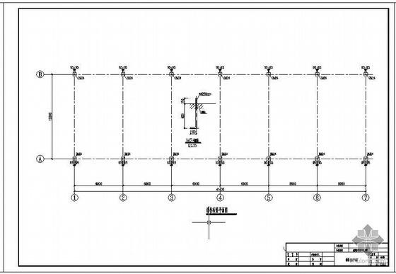 陕西某12米跨食堂浴室钢结构屋面图纸