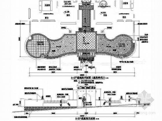 重庆某别墅区园林景观设计施工图