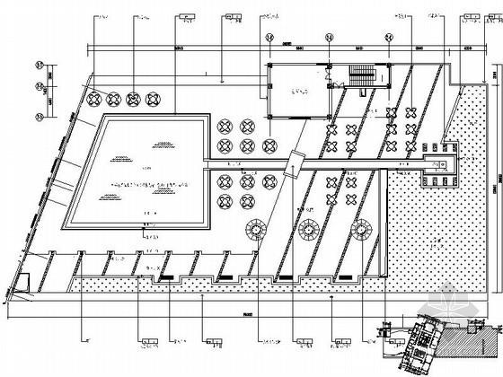 酒店屋顶花园平面布局图