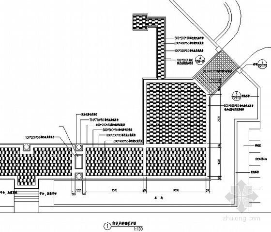 商业步道铺装平面图