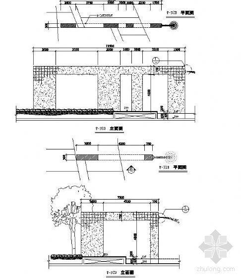 框型景墙施工图