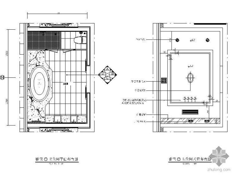 别墅卫生间立面图
