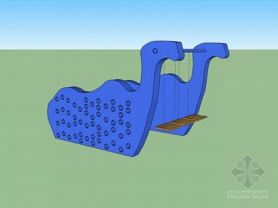 儿童游乐设施(恐龙秋千)sketchup模型下载