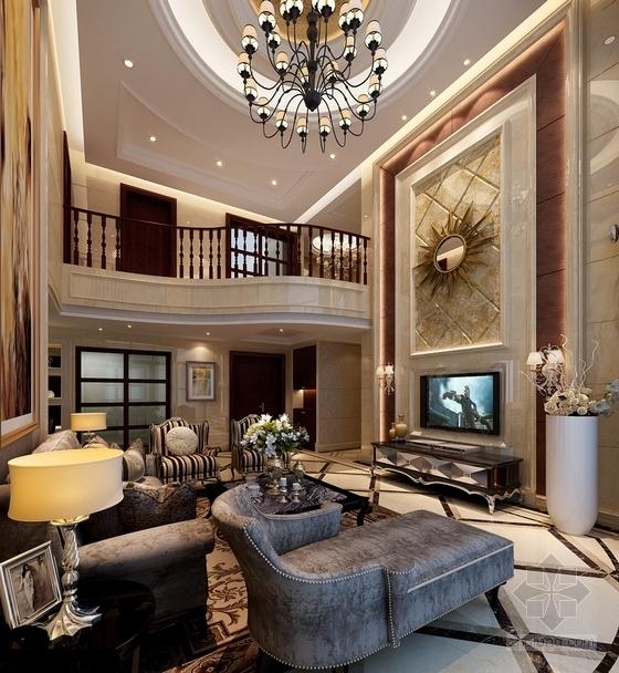 经典优雅两层别墅欧式风格装修图(含效果图) 效果图