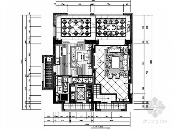 [海南]海口度假区欧式风格复式装修施工图
