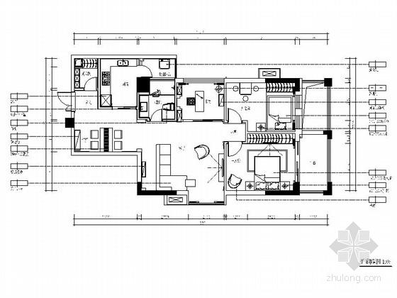 [湖北]现代风三居室样板间室内装修图(含效果)