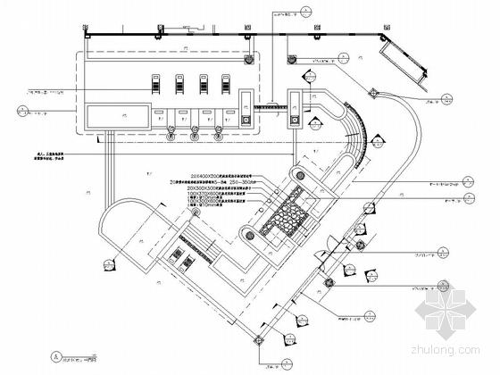 泳池区域平面施工图