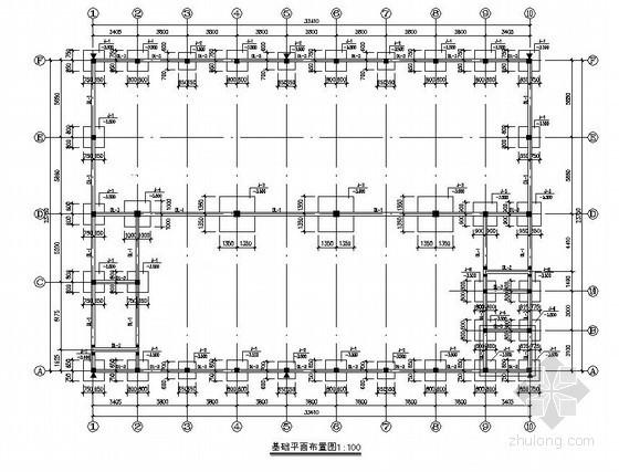 某二层框架(木屋架)厂房全套建筑结构设计图