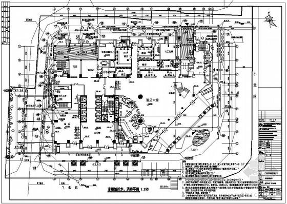 某42层商务办公及酒店综合楼给排水图纸