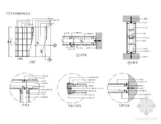 单层石膏板隔墙详图