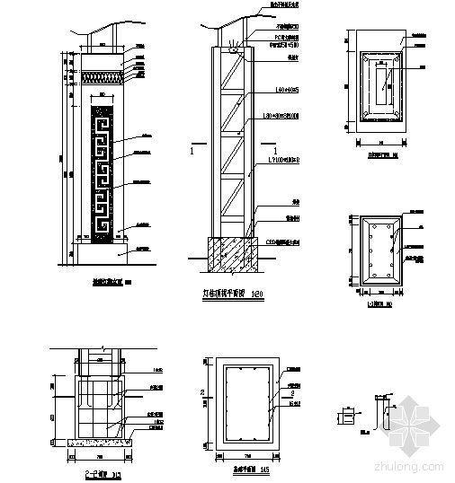 景观灯柱详图-4