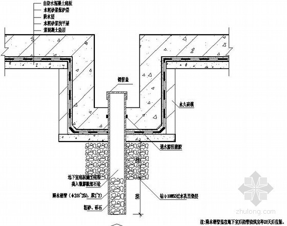 地下室深基坑抽、排水预埋井构造大样