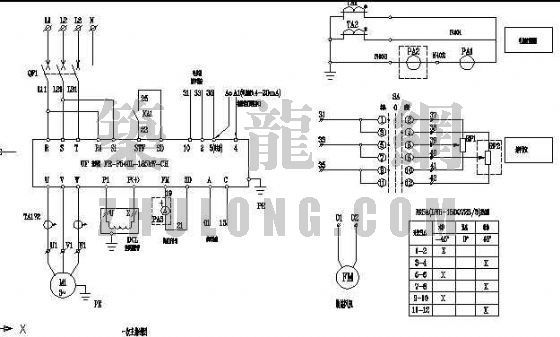 185kW电动机变频调速控制图