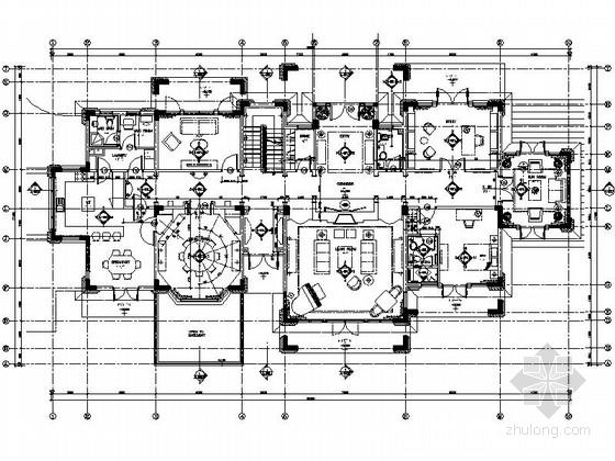 [江苏]精致豪华两层别墅室内设计施工图(含效果)