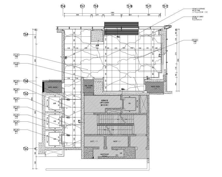 [深圳]华润大涌西塔T3公寓入户大堂+3套样板间施工图+物料表_1