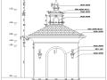 西班牙风格特色景观亭施工图含结构通用详图