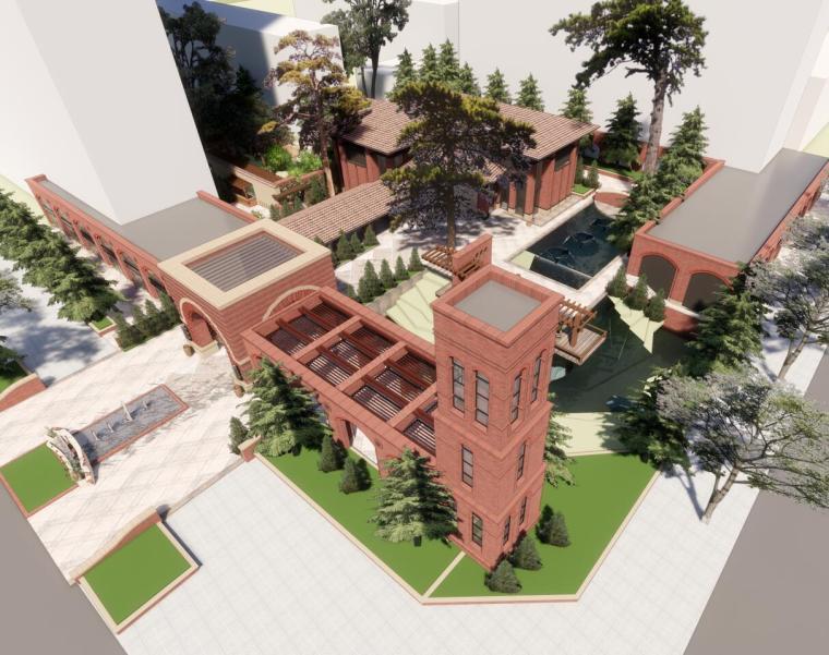 红砖售楼处示范区建筑模型设计(2018年)