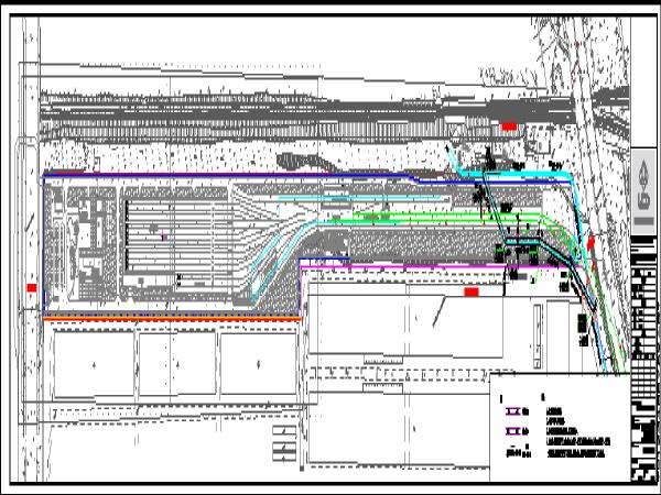 停车站雨水箱涵设置图