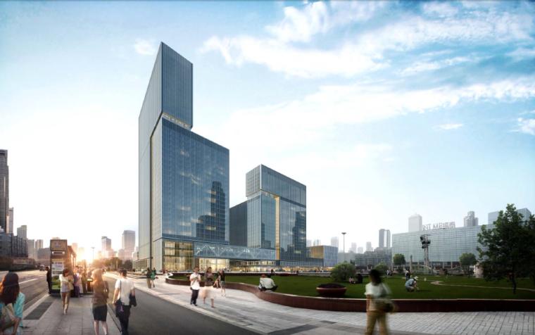 [杭州]KPF庆春广场商业中心建筑设计方案文本
