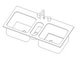 bim软件应用-族文件-水槽-三槽