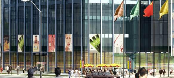 单元式幕墙工程施工组织设计-大跨度隐框玻璃幕墙大样图